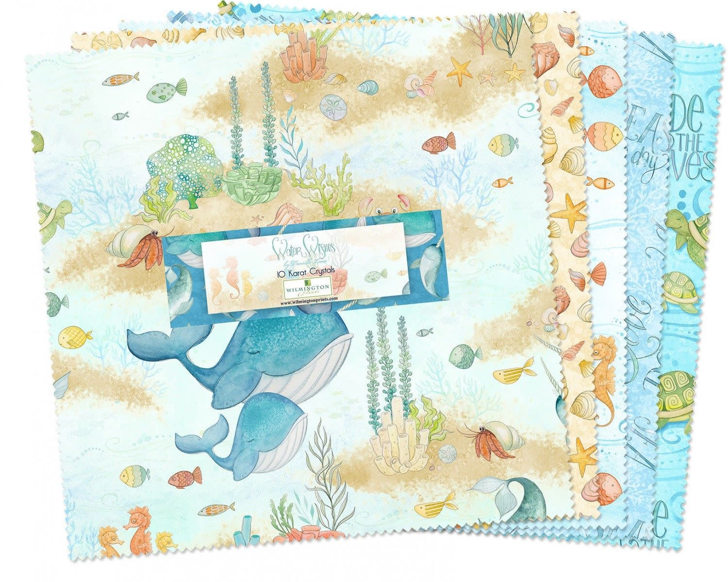 """WILMINGTON PRINTS Water Wishes 5"""" Charm Pack"""