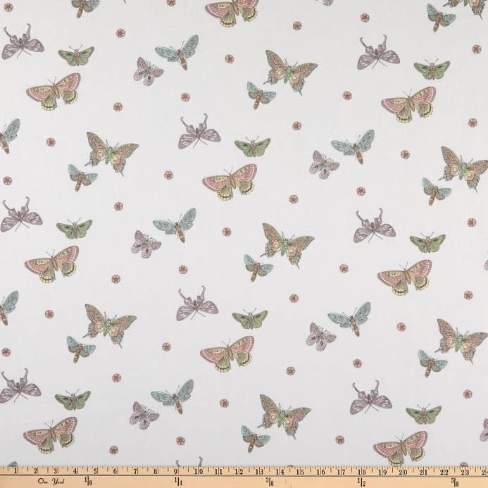 ANDOVER PER CM OR $20/M BOTANICA BUTTERFLIES, YELLOW (A9260)