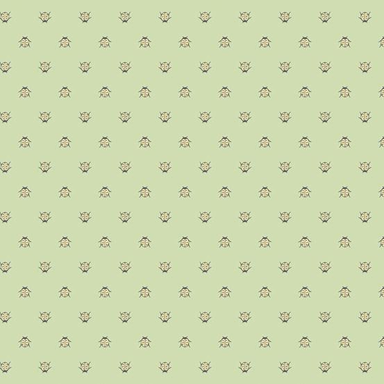 ANDOVER PER CM OR $20/M BOTANICAL BEETLES GREEN (A9264)