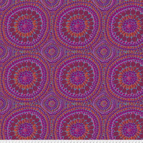 "KAFFE FASSETT KF Collective Fruit Mandala - Pink 108"" Backing - PER cm $32/m"