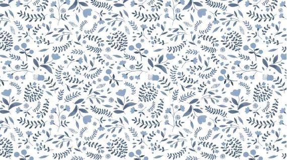 DEAR STELLA Brave Enough to Dream -  WINTER FLORAL ON WHITE-  /cm or $20/m
