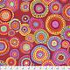 FREE SPIRIT /cm $18/m Kaffe Fassett Mosaic Circles - Red