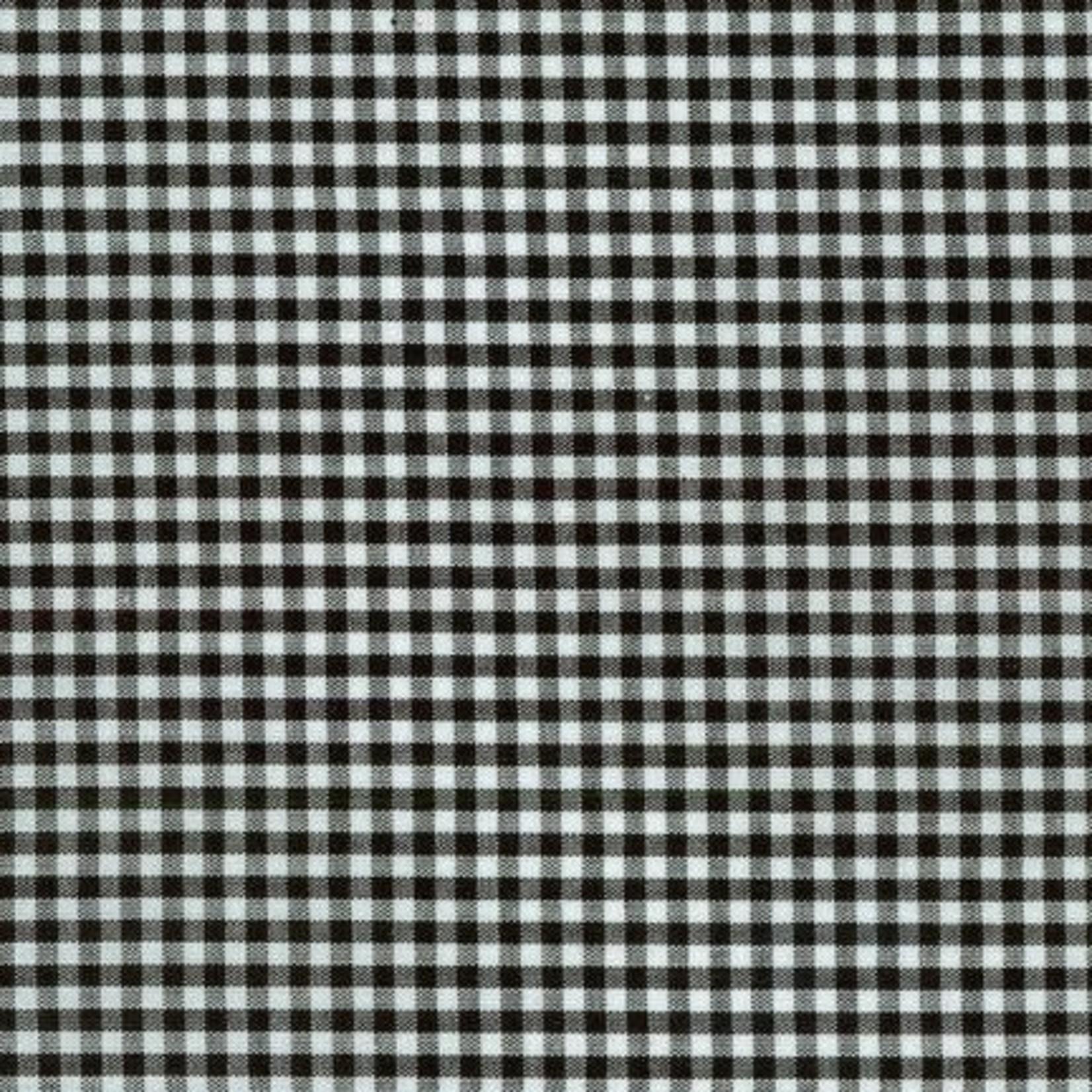 ROBERT KAUFMAN Carolina Gingham 1/8 Black per cm or $19/m
