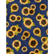 WILMINGTON PRINTS COUNTRY ROAD MARKET BLUE SUNFLOWER 90CM
