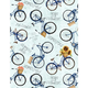 WILMINGTON PRINTS PER CM OR $20/M COUNTRY ROAD MARKET BLUE BICYCLES