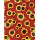 WILMINGTON PRINTS PER CM OR $20/M COUNTRY ROAD MARKET RED SUNFLOWER