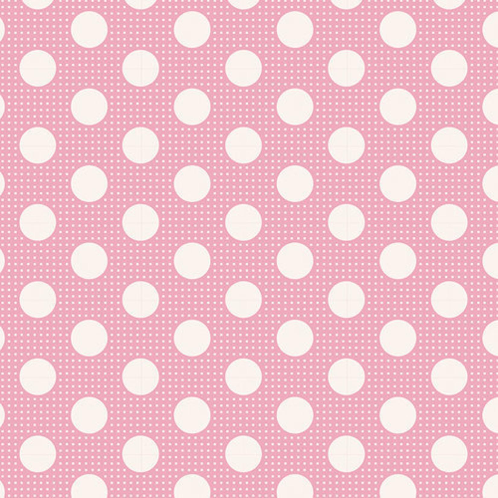 Tilda Basics Medium Dots, Pink - per cm or $20/m