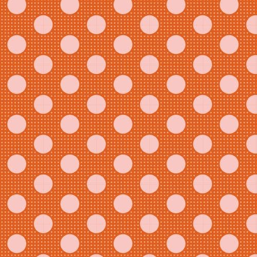 tilda Tilda Basics Medium Dots, Ginger - per cm or $20/m