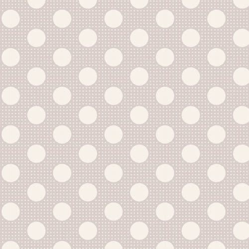 tilda Tilda Basics Medium Dots, Light Grey - per cm or $20/m