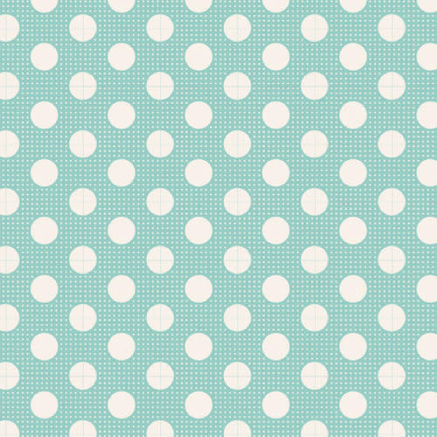 Tilda Tilda Basics Medium Dots, Teal - per cm or $20/m