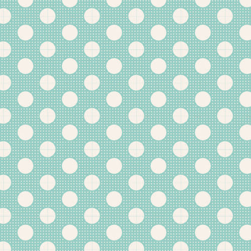 tilda Tilda Basics Medium Dots, Teal - per cm or $20/m