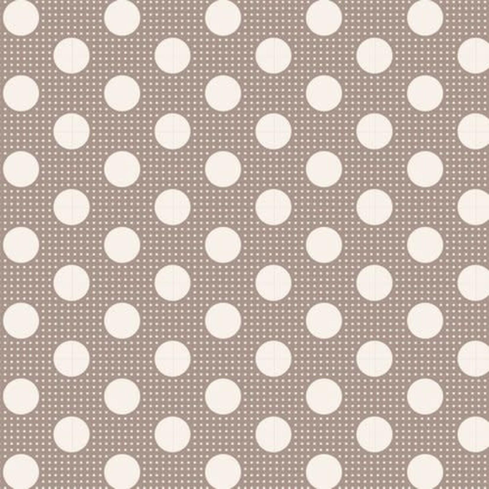 Tilda Tilda Basics Medium Dots, Grey - per cm or $20/m