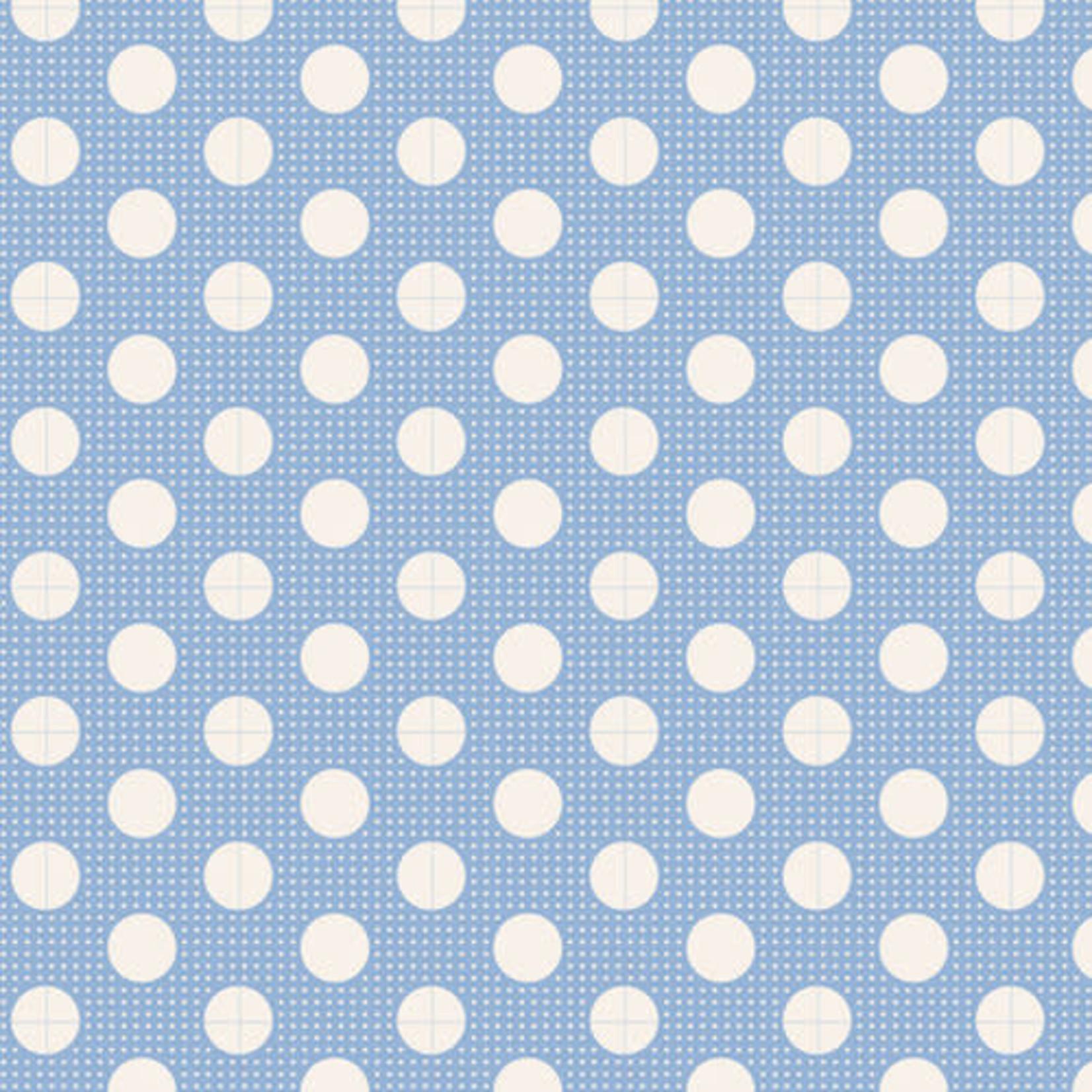 Tilda Tilda Basics Medium Dots, Blue - per cm or $20/m