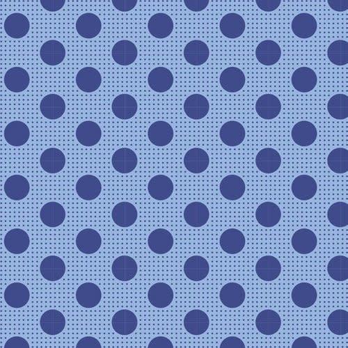 tilda Tilda Basics Medium Dots, Denim Blue - per cm or $20/m