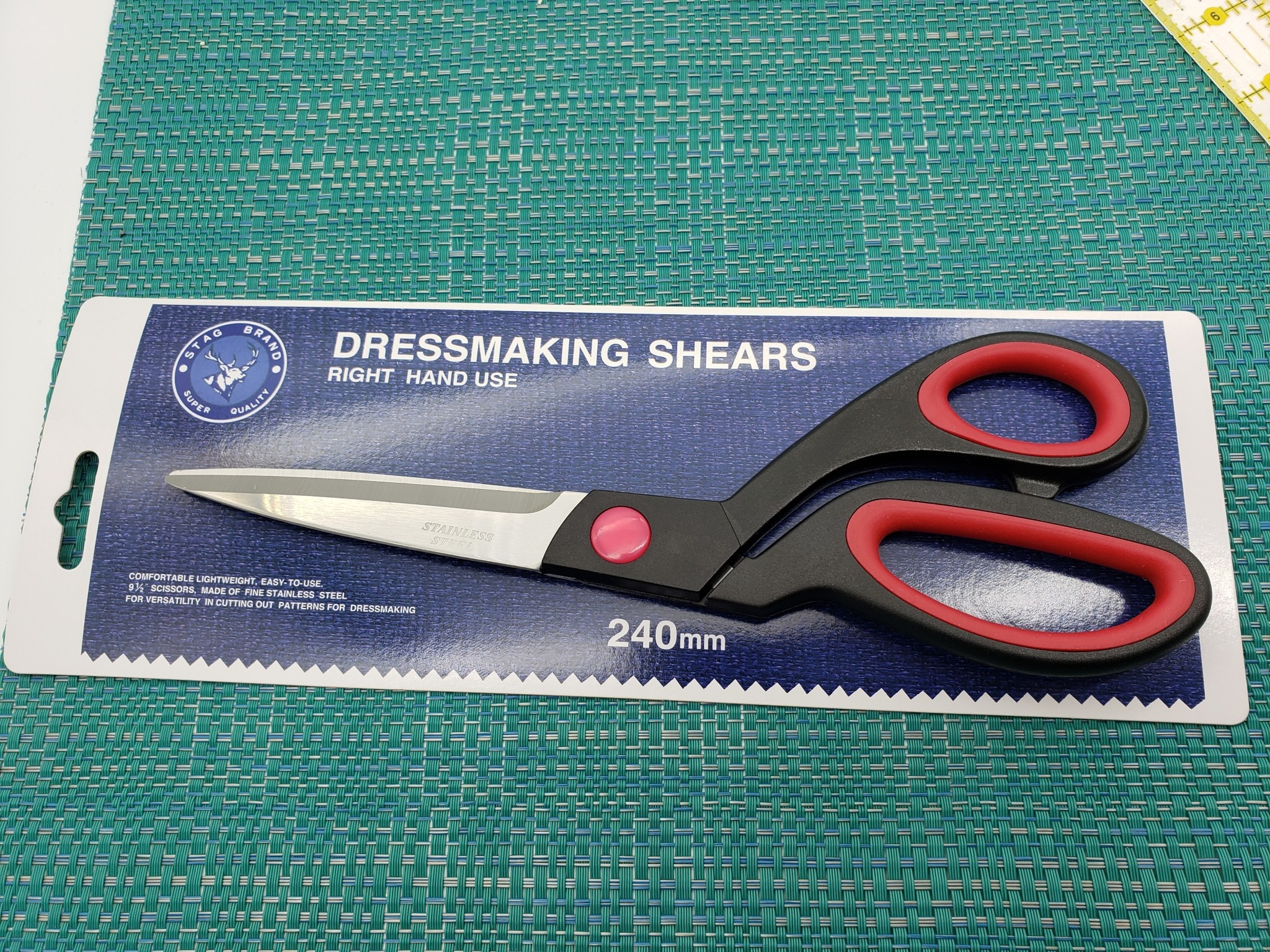 "STAG BRAND STAG BRAND 9 1/2"" DRESSMAKING SHEARS (Right) scissors"