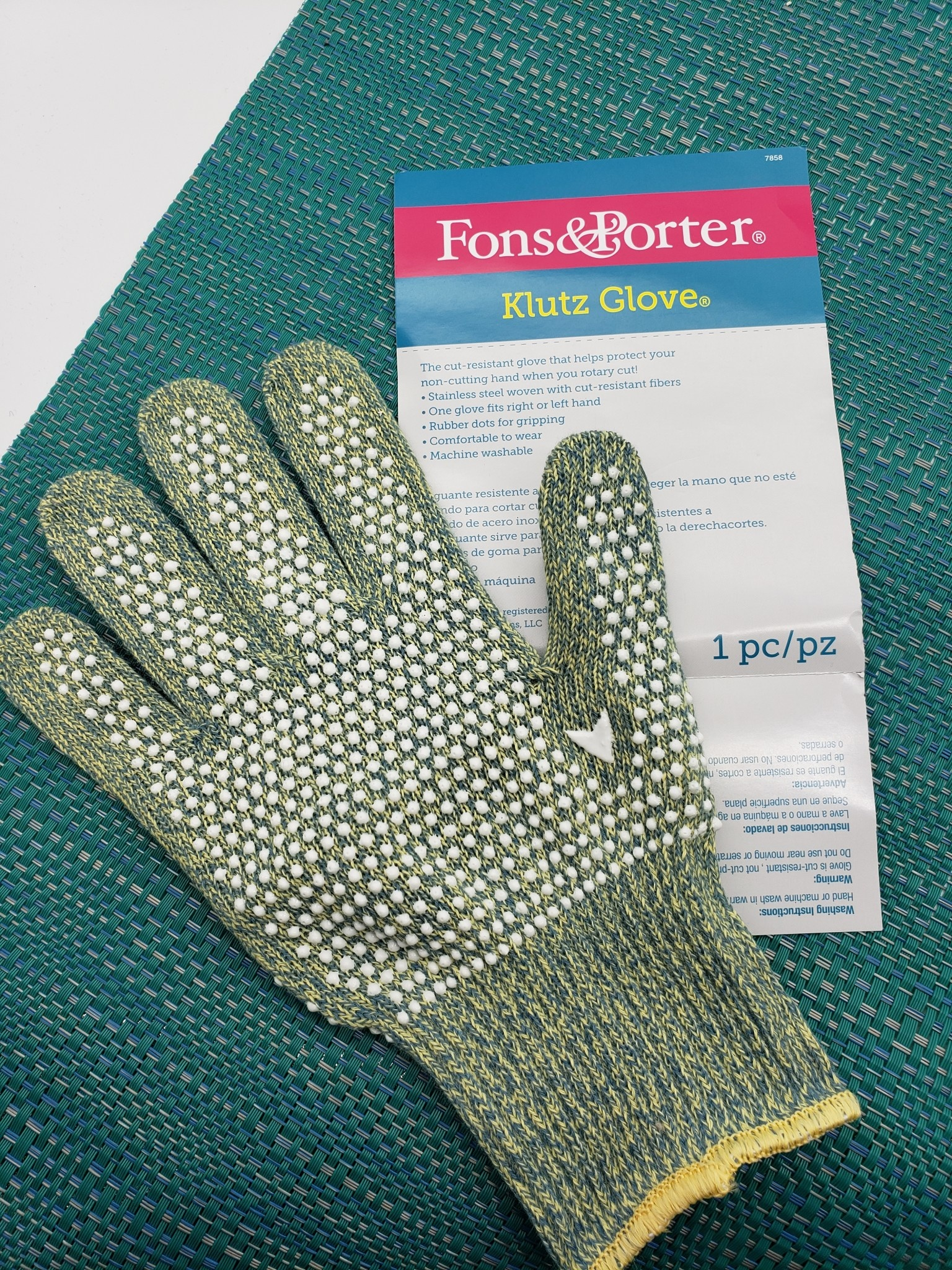 FONS & PORTER KLUTZ GLOVE (SAFE ROTARY CUTTING) LARGE