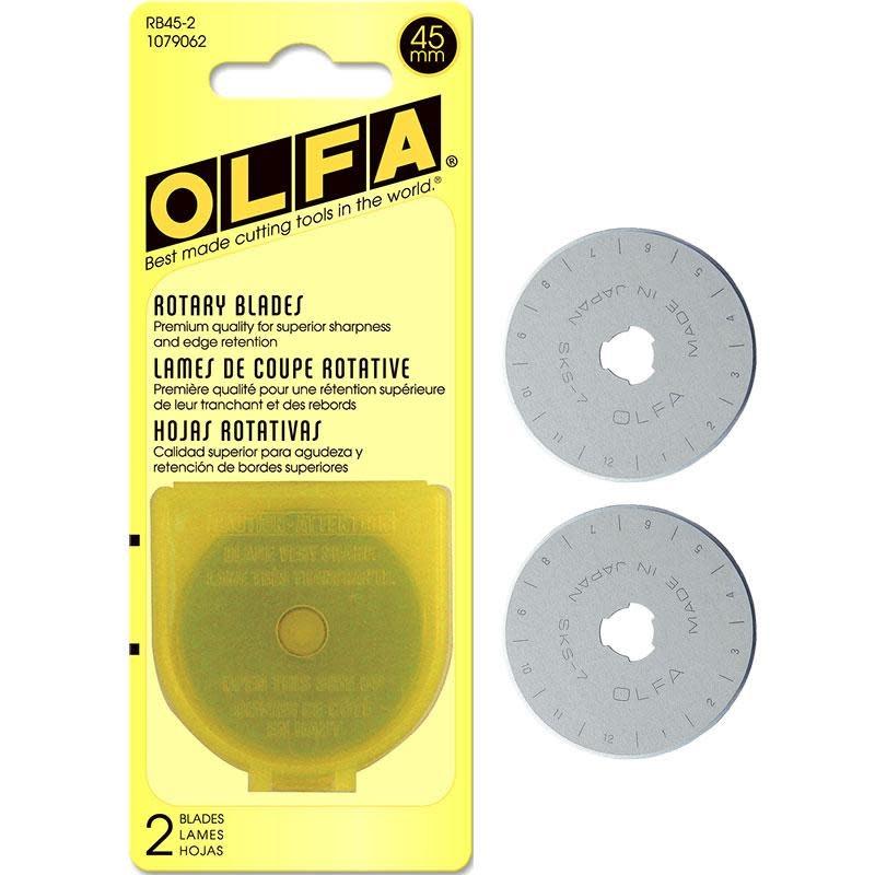 OLFA OLFA 45MM ROTARY BLADES (2 PACK)