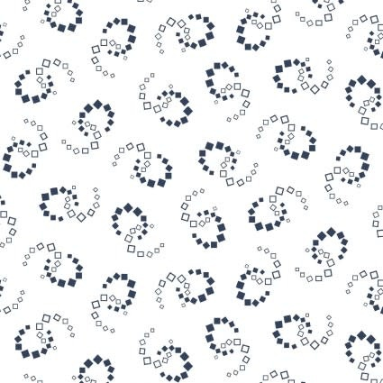 MAYWOOD Carnaby Geometric Swirl White Navy, /CM OR $18/M
