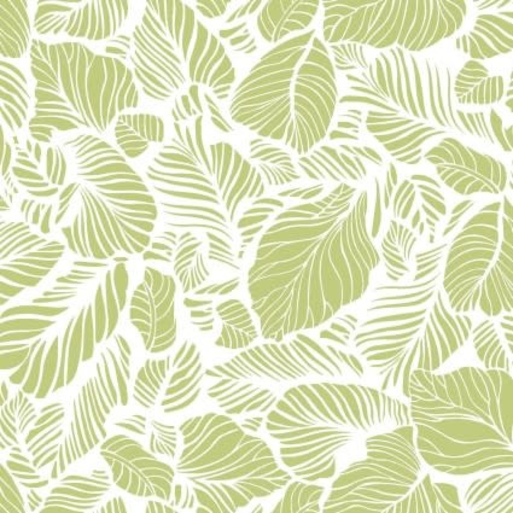 MAYWOOD Carnaby Leaves White, /CM OR $18/M