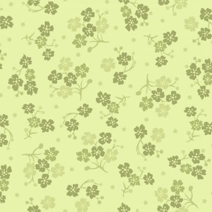 MAYWOOD Carnaby Tonal Flowers Green, /CM OR $18/M