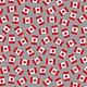 ROBERT KAUFMAN CANADA MASK CAP BAG FABRIC - FLAGS ON GREY 1= FAT 1/4