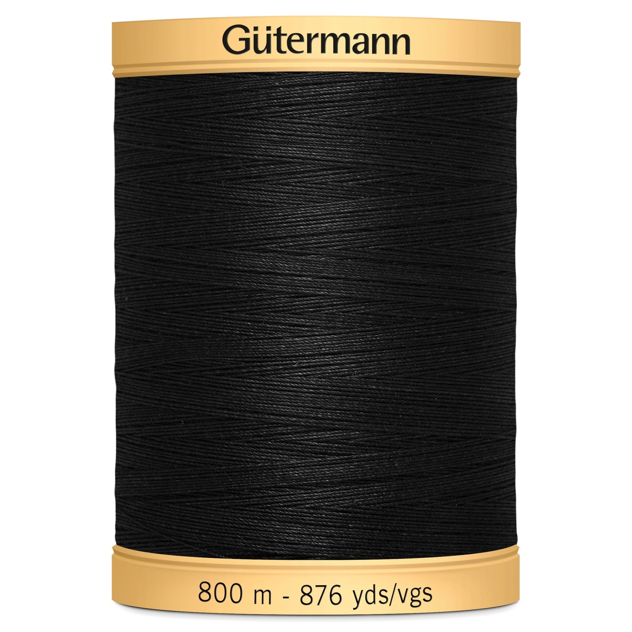 GUTERMANN Col.5201 Gutermann Cotton 800m BLACK