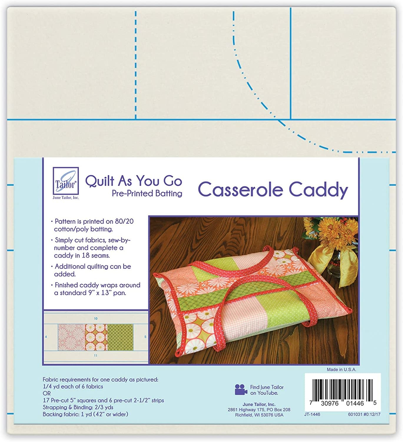 JUNE TAILOR QUILT AS YOU GO, CASSEROLE CADDY
