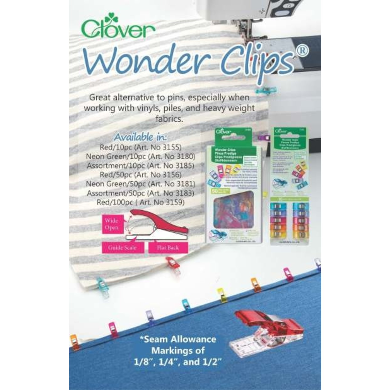 Clover Clover Wonder Clips 50 pc