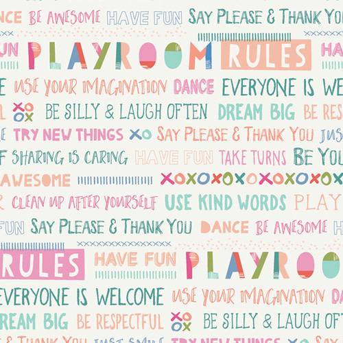 ART GALLERY PLAYROOM RULES, PER CM OR $20/M