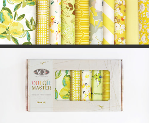 AGF Colour Master kit No.6 Lemon Green Edition - 10 Fat Quarters