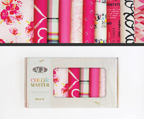 AGF Colour Master kit No.18 Berry Valentine Edition - 10 Fat Quarters