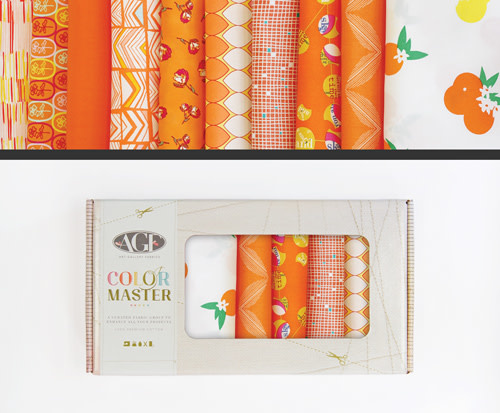 AGF Colour Master kit No.20 Tangerine Summer Edition - 10 Fat Quarters