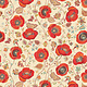 Blank Quilting Corp AVIGNON Med Poppy (41 on Ivory) PER CM OR $21/M