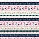 STUDIO E Boho Blooms, Bunny stripe , /cm or $21/m