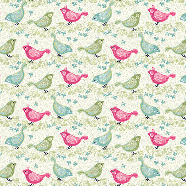 STUDIO E Boho Blooms, Birds , /cm or $21/m