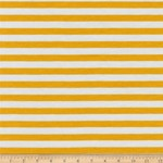Robert Kaufman BLAKE Knit Precut Jersey 1761 2 Yard Package Gold Stripe