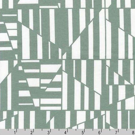 ROBERT KAUFMAN BLAKE Knit Precut Jersey  2 Yard Package GEO GREY
