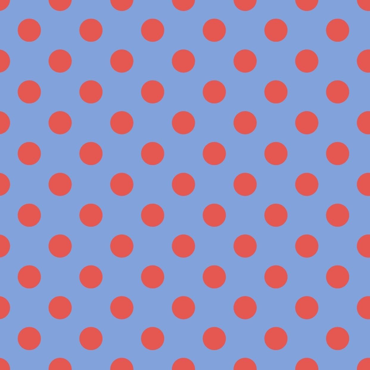 TULA PINK HOMEMADE Pom Pom Dots, Lupine, per cm or $17/m
