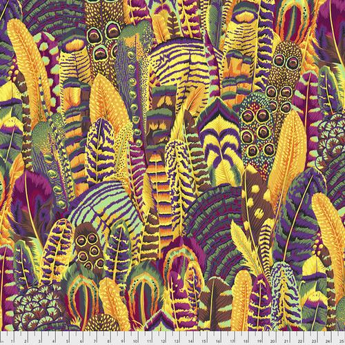 KAFFE FASSETT KF Collective Feathers, Gold,  per cm $18/m