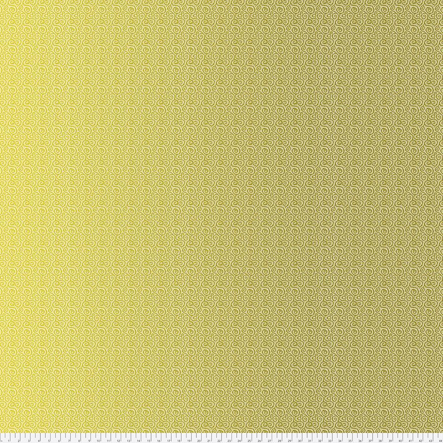 FREE SPIRIT Land Art, Petit Poucet, gold-vert OMBRE, per cm or $16/m