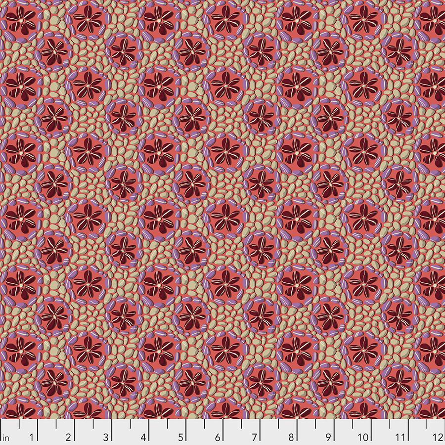 FREE SPIRIT Land Art, Stone Flowers, Rose, per cm or $16/m