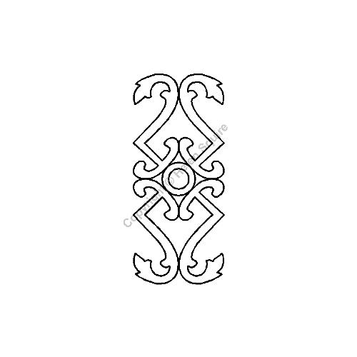 "Quilting Creations International TEMPLATE Lattice Border - 5"" x 11.5"" Stencil"