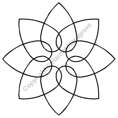 "Quilting Creations International TEMPLATE Interlocking Hearts Block 5"" Stencil"