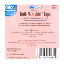 PELLON Knit N Stable Tape Fusible 10 Yards White