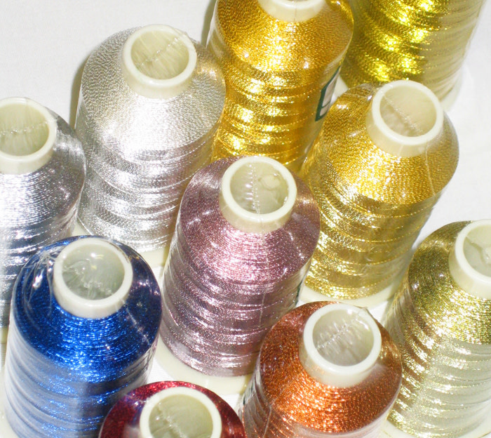 MARATHON Colour 4004 - 1000mtr METALLIC POLY EMBROIDERY THREAD