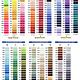 MARATHON Colour 2010 - 1000mtr POLY EMBROIDERY THREAD