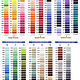 MARATHON Colour 2018 - 1000mtr POLY EMBROIDERY THREAD