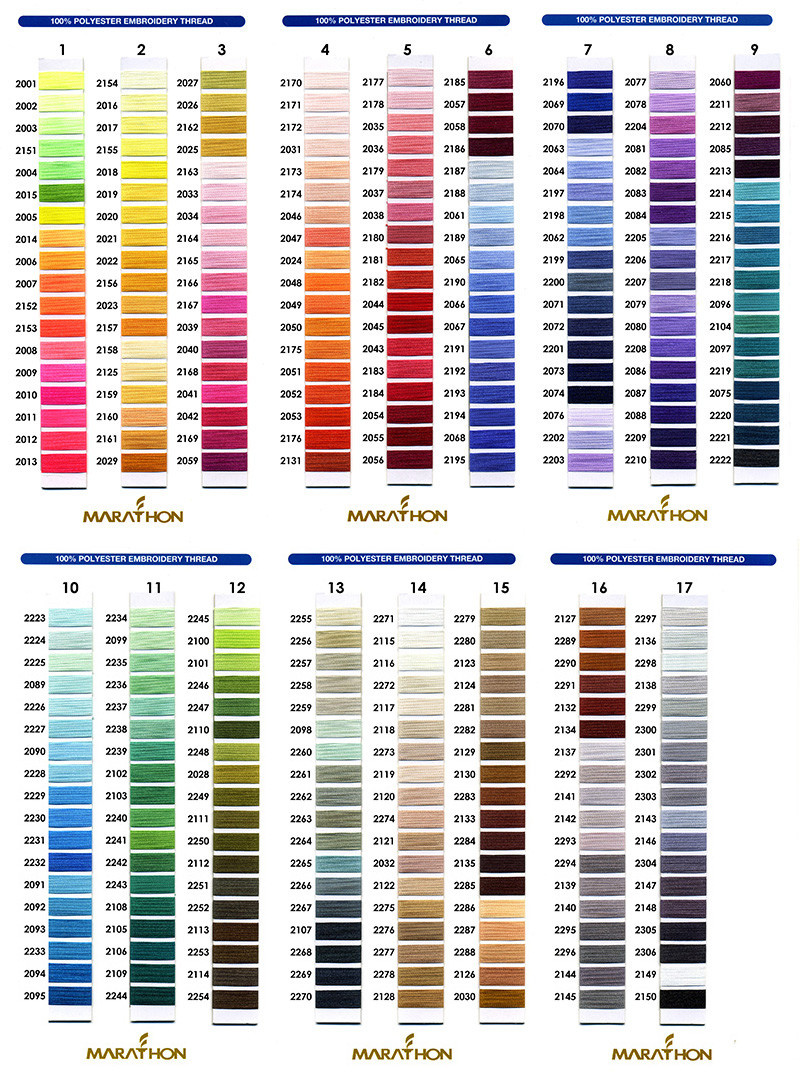 MARATHON Colour 2027 - 1000mtr POLY EMBROIDERY THREAD