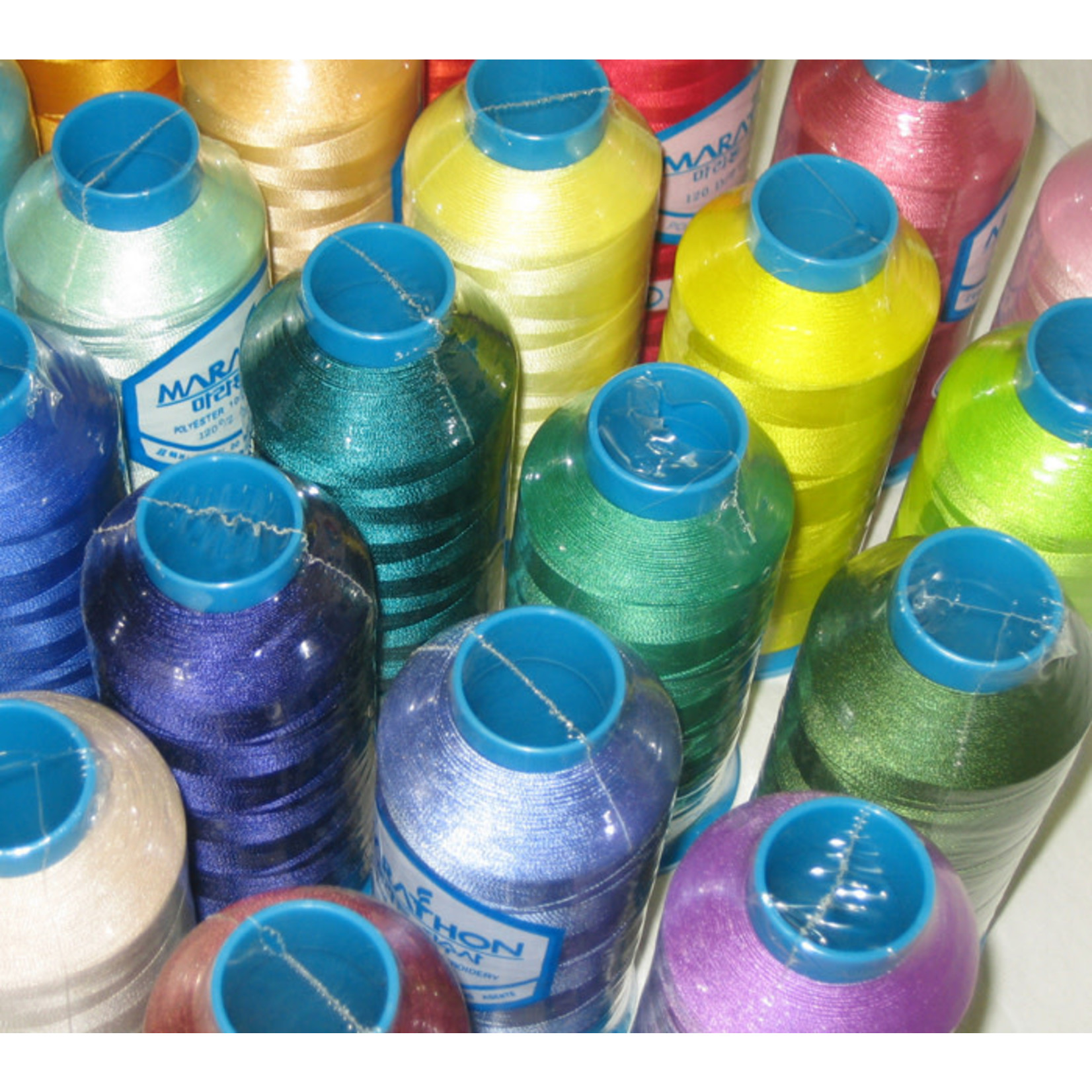 MARATHON Colour 2115 - 5000mtr POLY EMBROIDERY THREAD Off White (varies from colour card)
