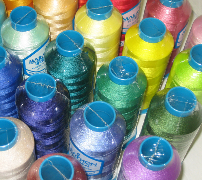 MARATHON Colour 2116 - 5000mtr POLY EMBROIDERY THREAD  Off White (Varies from Colour Card)